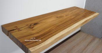 Waschtischplatte aus Holz