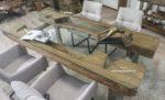 Konferenztisch Massivholz aus einem antiken Reismörser