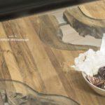 Couchtisch aus Holzbalken 120 x 80 cm