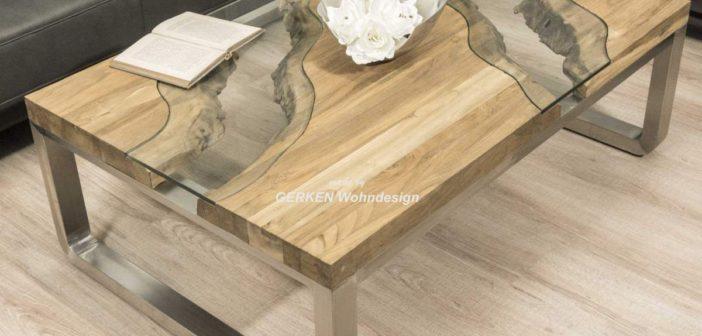 Couchtisch aus Holz 120 x 80 cm